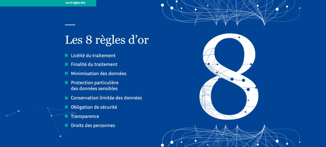 Les 8 règles d'or du RGPD vu par la CNIL